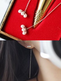 심보늬귀걸이sexy pearl92.5전체실버통과형귀걸이
