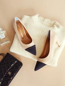 ♩ready-made shoes콤비스타일 투톤힐( 2 colors )국내제작고퀄리티
