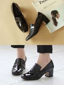 ♩ready-made shoes마틴 미들 펌프스스웨이드&에나멜